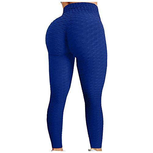 BAIDEFENG Alta Mallas Pantalones Deportivos Leggins,Pantalones de Entrenamiento texturizados, Pantalones de Yoga para Abdomen y Caderas-F_S,Mujer Pantalones De Yoga Deportivos