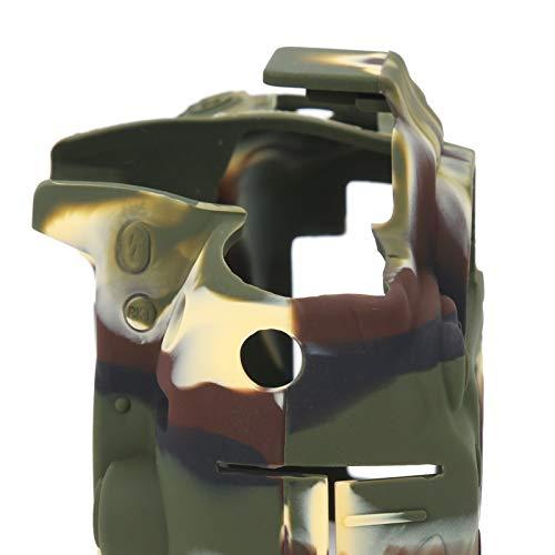 Funda Protectora para cámara, Carcasa Protectora Antideslizante para cámara con dureza Estirable para cámara Nikon D7000 para fotógrafos(Camouflage)