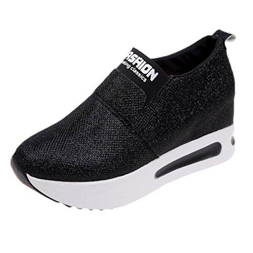 Zarupeng dames vrijetijdsschoenen platte dikke onderste schoenen slip on laarzen sneaker casual platform sportschoenen loopschoenen
