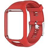 Voghtic - Cinturino di ricambio per TomTom Runner 2/Runner 3/Spark 3/Golfer 2/Adventurer (rosso)