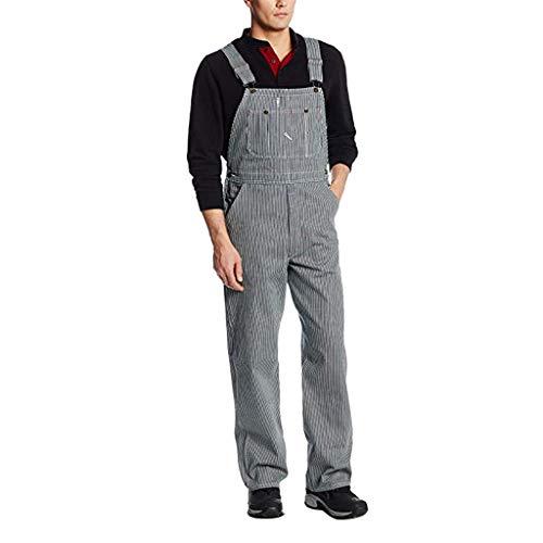 Dasongff jeans lange jeansbroek voor heren, retro denim, skinny fit, streetwear stone-washed, scheuren, werkbroek, jumpsuit