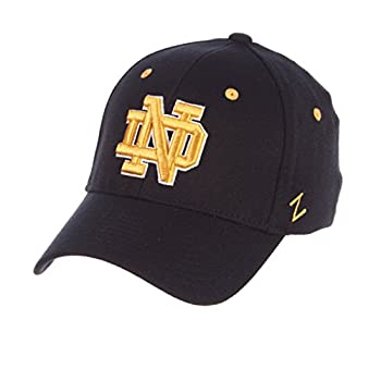 Zephyr Notre Dame ND Fighting Irish Blue DH Adult Mens Fitted Baseball Hat/Cap Size Medium 7 1/8 and 7 1/4