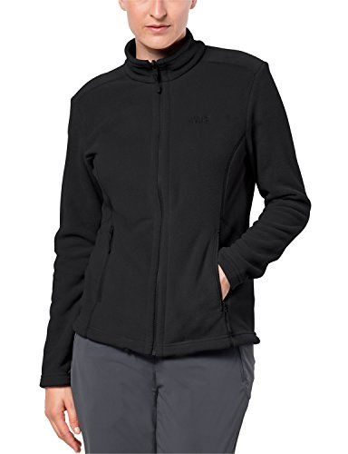 Jack Wolfskin Damen W Moonrise Klassisch Fleecejacke, Black, XL