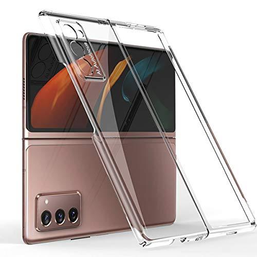 MOONCASE Cover Galaxy Z Fold 2 5G, Posteriore Rigida Trasparente PC Cover Opaca Sottile Custodia Protettiva Pieghevole per Samsung Galaxy Z Fold 2 5G 7.6'- Trasparente