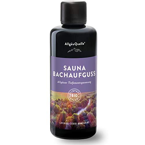 Saunaaufguss mit 100% BIO-Öle Tiefenentspannung Lavendel Zeder Mandarine (100ml). Natürlicher Sauna-aufguss m. ätherische Sauna-Öle im Aufguss-Mittel. Saunaöl natrurrein und biologisch