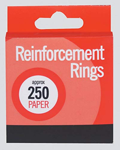 NEW BOX 250 REINFORCEMENT RINGS PAPER R