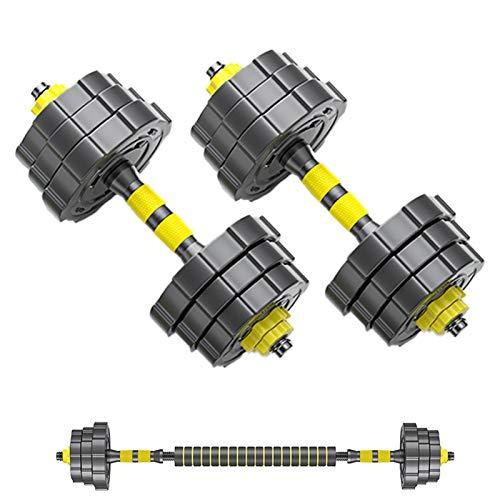 YQCH Pesos Pesas de Pesas Conjunto de Dumbell Ajustable Conjunto de 2, 2 en 1 Conjunto de Peso de Barra de Dumbells para el Gimnasio para el hogar, Ejercicio Gimnasio para Hombres y Mujeres
