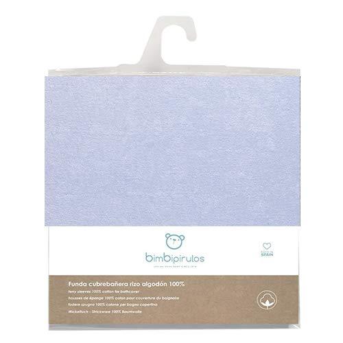 Pirulos Funda Cambiador Bañera Bebé/Funda cubrebañera Ajustable 100% Algodón 50x80cm, Color Azul