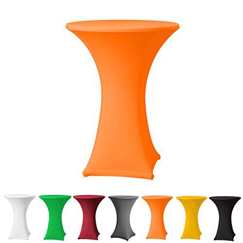 Babat Stehtischhusse Stretch in Farbe orange und Durchmesser 80-85 für Bistrotisch/Stehtisch