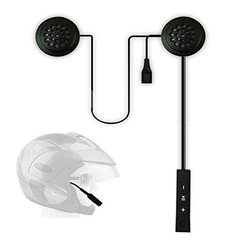 Casco de motocicleta, auricular inalámbrico, antiinterferencia, auricular con Bluetooth, intercomunicador de motocicleta, con micrófono, altavoces estéreo manos libres, negro