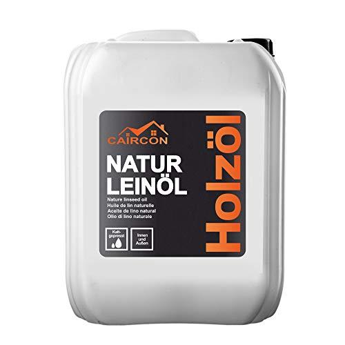 Natur Leinöl für Holz   kaltgepresstes Holzöl   Holzpflegeöl Holzmöbel Öl für Innen und Aussen   farblos 5L