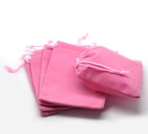 Best jewelry bags drawstring velvet pink for 2020