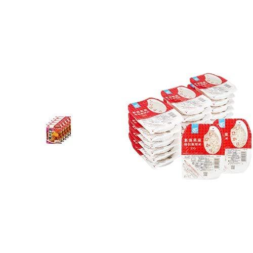 味の素 CookDo きょうの大皿 肉みそ大根用 90g×5個 + Happy Belly パックご飯 新潟県産こしひかり 200g×20個(白米) 特別栽培米