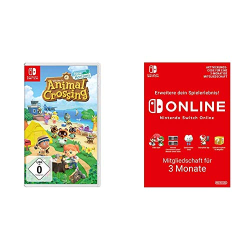 Animal Crossing: New Horizons [Nintendo Switch] + Nintendo Switch Online Mitgliedschaft - 3 Monate | Switch Download Code
