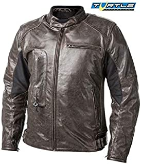 HELITE Unisex-Adult Roadster Leather Motorcycle Airbag Jacket (Brown, XXX-Large)
