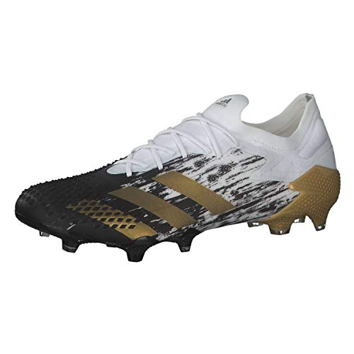 adidas Predator Mutator 20.1 L FG, Bota de fútbol, White-Gold Metallic-Core Black, Talla 7.5 UK (41 1/3 EU) ✅