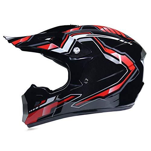 qwert Off-Road Helmet Mountain Bike Motocross Adult Unisex Full Face Motorcycle Helmet, Youth Kids Motocross BMX ATV Dirt Bike Helmet, DOT Approved (S-XL, 53-60cm)