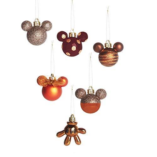 Licensed Mickey Mouse Weihnachtsbaumschmuck (Bronze, 6)