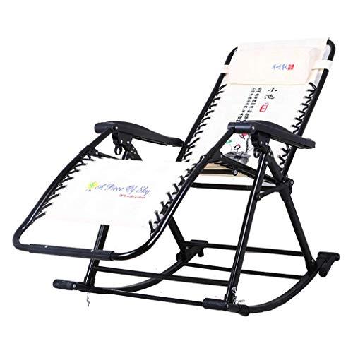Recliner Reclining Patio Chair Beiger Schaukelstuhl Zero Gravity Locking Recliner Chair Wohnzimmer Garten Rasen Outdoor Liegestuhl Oversize Klappbar