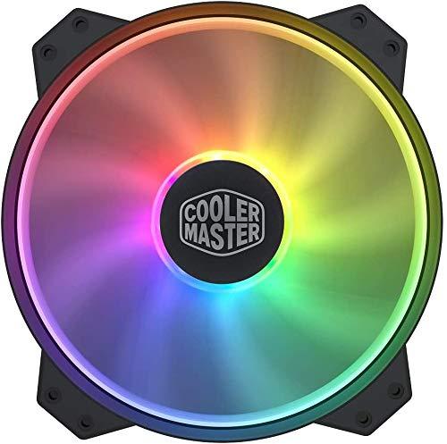 Cooler Master MasterFan MF200R ARGB 200 mm Addressable RGB Fan.RGB Fan,5V/3-PIN ARGB case Fan