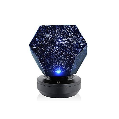 LED Sternenhimmel Projektor, Nova Stars USB Nachtlicht Home Planetarium Projektionslampe Kinder, Nachttischlampe mit Bluetooth Music Player für Kinderzimmer und Weihnachtsgeschenke (Blau)