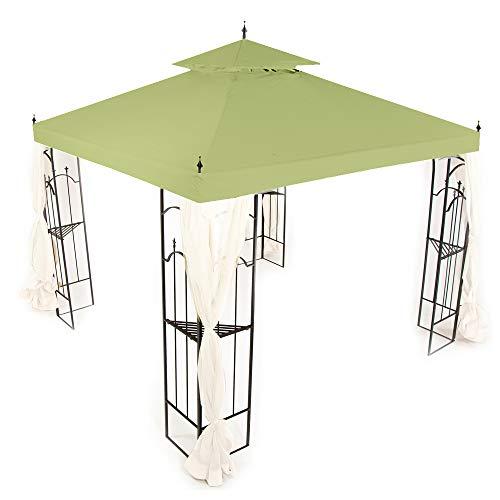Garden Winds Replacement Canopy Top Cover for Hampton Bay Arrow Gazebo - Riplock 350 - Sage