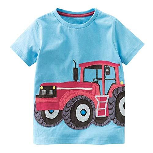 Obestseller Mädchenbekleidung,Baby-Oberteil,Kleinkind Kinder Baby Jungen Mädchen Kleidung Kurzarm Cartoon Tops T-Shirt Bluse,Sommerkleidung,Unisex