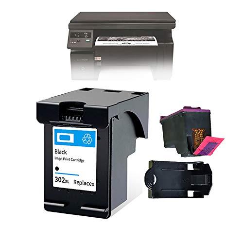 Cartucho de Tinta para HP302XL, Cartucho de Tinta de Impresora Compatible Negro, con Impresión de Al Menos 600 Páginas de Papel, 2 Piezas,Ink Cartridge