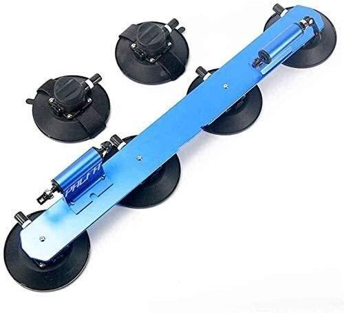 LFDHSF Fahrradträger, Fahrradträger auf dem Dach Fahrradgabel mit hinterem Riemen Saugnapf Fahrradträger Installieren Sie den Träger Einfacher Autodachträger Auto-Vakuum-Saug-Fahrradträger