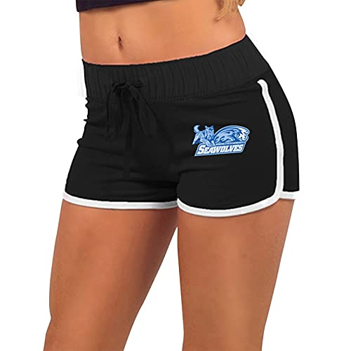 Son-Oma State University Ladies Low Waist Hot Pants Drawstring Sports Shorts,Hot Pants for Women Sexy,Low Waist Elastic Hot Pants,Summer Sports Gym for Beach,Women's Cotton Hot Pantssmall