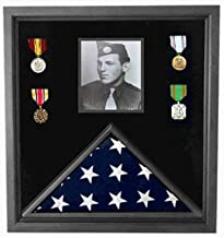 product image for 5 'x 8' American Flag and Photo Display case for Large American Flag and Photos