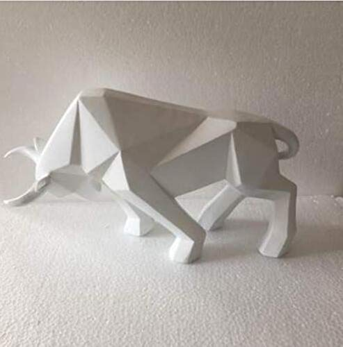Sdllmta Estatua Ganado geométrico Toro Buey Escultura
