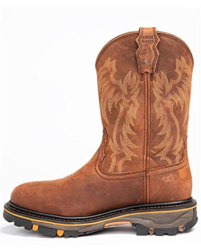 ZHANGZ Botas Altas de Tacón Mujer,Zapatos Planos Zapatos Perezosos Botas de Vestir de Punta Redonda para la Fecha de Trabajo Boda,40-Brown