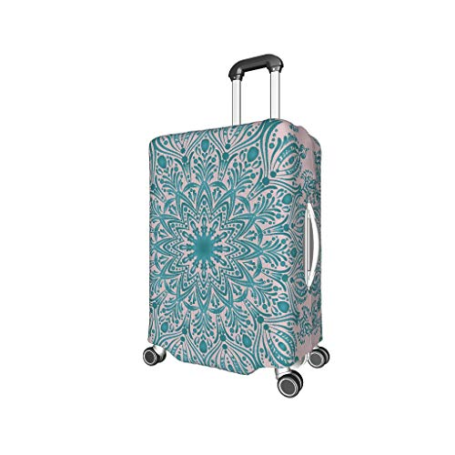 Lind88 Light Sea Blue Mandala Travel Bagage Protector - Misty Rose unieke Multi Size pak veel koffer