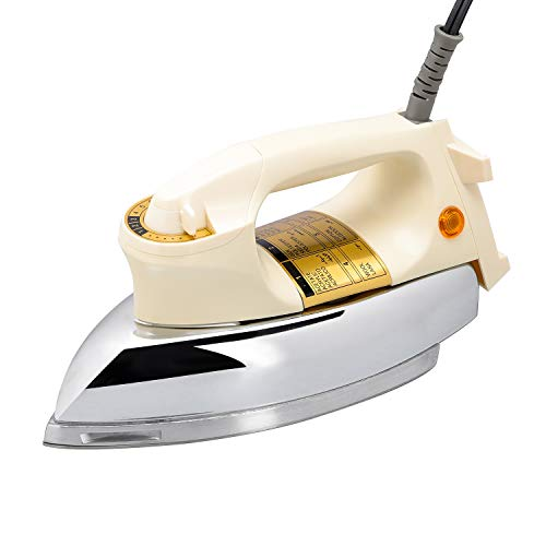 WASING Classic Dry Iron for Industry and Household Usage Upgraded Mirror Stainless Steel Soleplate Without Steam 1000W
