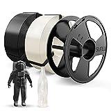 SUNLU Filamento PLA 1.75mm, PLA Filamento Impresora 3D, Reutilizable MasterSpool, Precisión...