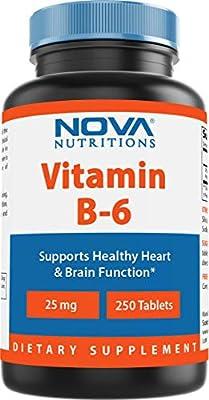 Nova Nutritions Vitamin B6 25 mg 250 Tablets