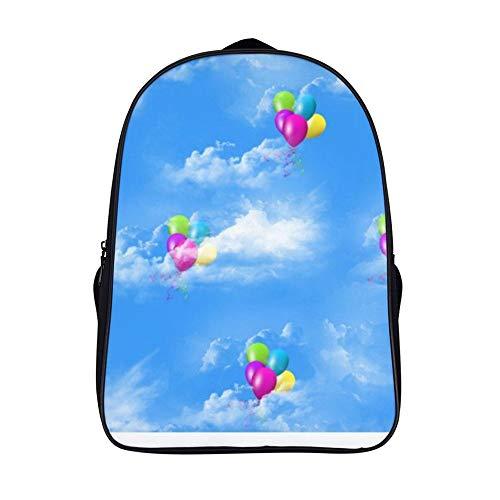XIAHAILE Schulrucksack für Mädchen, leicht, Campus, Buchtasche, Laptoprucksack, Teenager-Schultasche, 40,6 cm, schwebende Luftballons