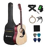 JOYMUSIC 6 String 41' Acoustic Guitar Kit,Natural,Matt (JOY-201K,NA), Right