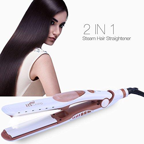 Steam Hair Straightener, 5 level Temperature...