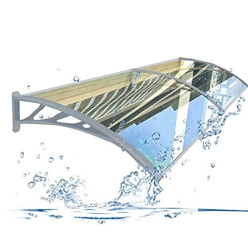 Auvent de Porte Entrée Marquise QIANDA Transparent Mur Polycarbonate Feuilles Extérieur Couverture Fenêtre Store Abri - Taille Multiple (Size : 160cmx60cm)