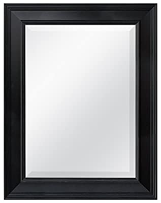 MCS Pewter Grooved Beveled Rectangular Wall Mirror