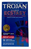 Trojan Premium Latex Condoms Double Ecstasy - 10ct, Pack of 3