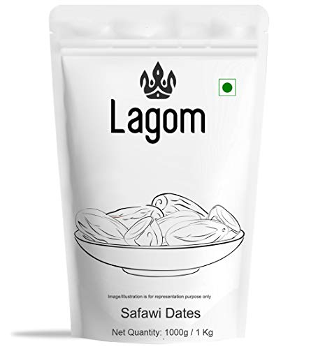 Lagom Saudi Safawi Dates (Khajoor), 1Kg