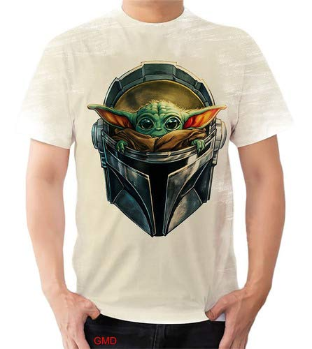 Camiseta Camisa Baby Bebê Yoda Mandalorian Disney Star Wars