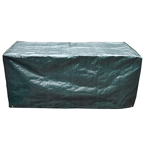 Patio Table Protective Cover, 170x95x70cm Waterproof Breathable Polypropylene Outdoor Furniture Cover for Garden Table and Chairs Set Green