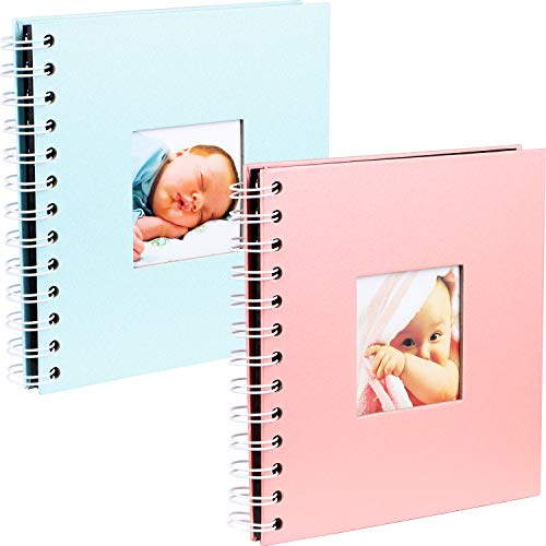 vamei 2 Paquetes Álbum Fotos Scrapbook Álbum de Recortes Álbum de Bricolaje Libros de Memoria Hechos a Mano para el Libro de visitas de la Boda, Álbum de Fotos del bebé para mamá para Hombres Mujeres