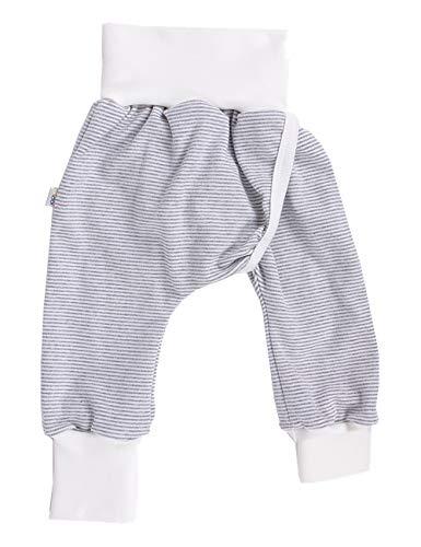 iobio™ Crawlers W-Free™ Splitpants - Windelfrei Schlitzhose aus Bio Baumwolle (Grau-Ecru, 62/68)