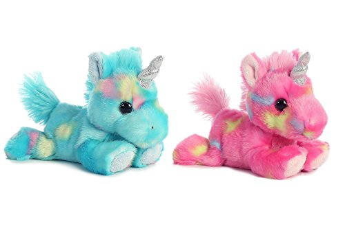 Aurora Bundle of 2 Stuffed Beanbag Animals - Blueberry Ripple Unicorn & Jelly...