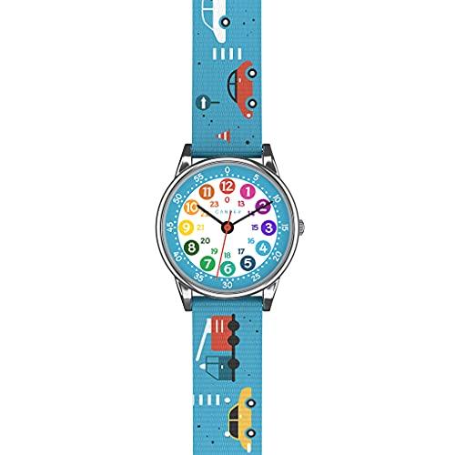 Cander Berlin MNA 1230 A - Reloj de pulsera para niños, reloj de aprendizaje, color azul